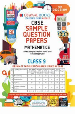Oswaal CBSE Sample Question Papers 3 For Class IX Mathematics (March 2020 Exams)