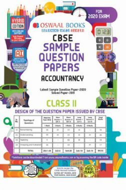 Oswaal CBSE Sample Question Papers 1 For Class XI Accountancy (March 2020 Exams)