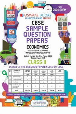 Oswaal CBSE Sample Question Papers 1 For Class XI Economics (March 2020 Exams)