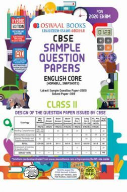 Oswaal CBSE Sample Question Papers 2 For Class XI English Core (March 2020 Exams)