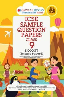 Oswaal ICSE Sample Question Papers 5 For Class IX Biology (March 2020 Exams)