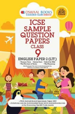 Oswaal ICSE Sample Question Papers 3 For Class IX English Paper-2 (Literature) (March 2020 Exams)