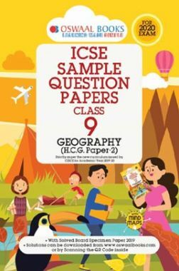 Oswaal ICSE Sample Question Papers 3 For Class IX Geography (March 2020 Exams)
