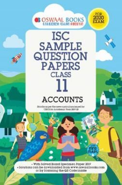 Oswaal ISC Sample Question Papers 3 For Class XI Accounts (March 2020 Exams)