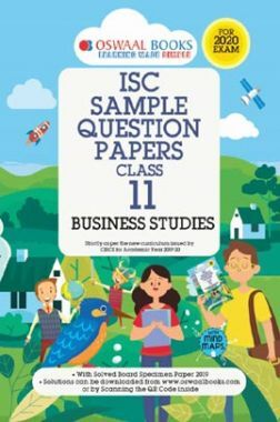 Oswaal ISC Sample Question Papers 3 For Class XI Business Studies (March 2020 Exams)