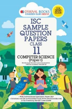 Oswaal ISC Sample Question Papers 2 For Class XI Computer Science (March 2020 Exams)