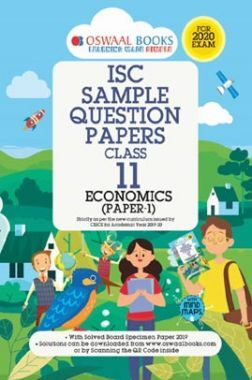 Oswaal ISC Sample Question Papers 3 For Class XI Economics (March 2020 Exams)
