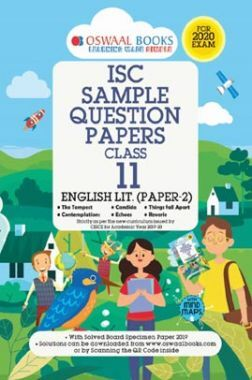 Oswaal ISC Sample Question Papers 2 For Class XI English Paper-2 (Literature) (March 2020 Exams)