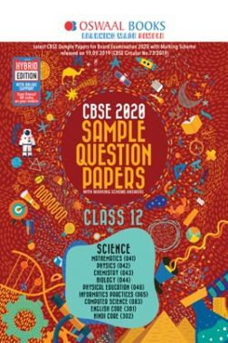 Oswaal CBSE 2020 Sample Question Paper Class XII (Science Stream) (For March 2020 Exam)