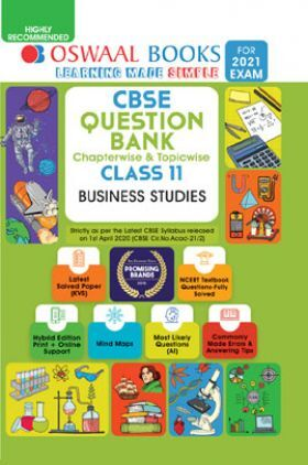 Oswaal CBSE Question Bank Chapterwise & Topicwise For Class - XI Business Studies (March 2021 Exam)