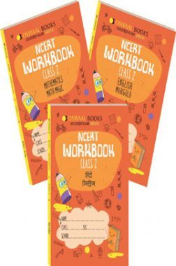 Oswaal NCERT Workbook For Class 2 (Set of 3 Books) Math Magic, English Marigold, Hindi Rimjhim (For March 2021 Exam)