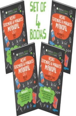 Oswaal NCERT Teachers & Parents Manual For Class 4 (Set of 4 Books) Math Magic, English Marigold, Hindi Rimjhim, Environmental Studies Looking Around (For March 2021 Exam)
