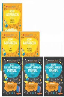 Oswaal NCERT Workbook With Teachers & Parents Manual For Class 1 (Set of 6 Books) Math Magic, English Marigold, Hindi Rimjhim (For March 2021 Exam)