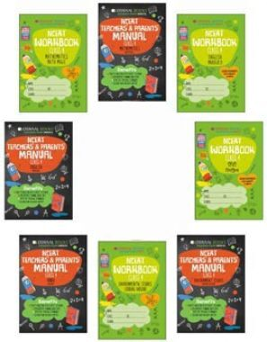 Oswaal NCERT Workbook With Teachers & Parents Manual For Class 4 (Set of 8 Books) Math Magic, English Marigold, Hindi Rimjhim, Environmental Studies Looking Around (For March 2021 Exam)