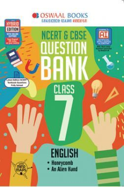 Oswaal NCERT & CBSE Question Bank For Class - VII English (March 2021 Exam)
