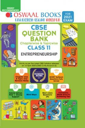 Oswaal CBSE Question Bank Chapterwise & Topicwise For Class - XI Entrepreneurship (March 2021 Exam)