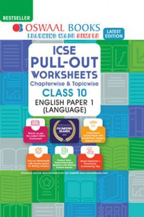 Oswaal ICSE Pullout Worksheets Chapterwise & Topicwise For Class - X English Paper-I (Language) (March 2021 Exam)