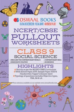 Oswaal NCERT & CBSE Pullout Worksheets For Class - IX Social Science (March 2021 Exam)
