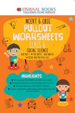Oswaal NCERT & CBSE Pullout Worksheets For Class - VI Social Science (March 2021 Exam)