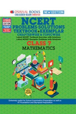 Oswaal NCERT Problems - Solutions (Textbook + Exemplar) For Class -VII Mathematics (For March 2021 Exam)