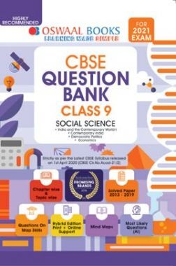 Oswaal CBSE Question Bank For Class - IX Social Science (For March 2021 Exam)