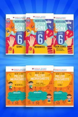 Oswaal NCERT & CBSE Question Bank + Pullout Worksheets For Class - VI (Set of 6 Books) Mathematics, Science & Social Science (For 2021 Exams)