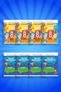 Oswaal NCERT & CBSE Question Bank + Pullout Worksheets For Class - VIII (Set of 8 Books) English, Mathematics, Science & Social Science (For 2021 Exams)