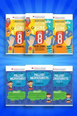 Oswaal NCERT & CBSE Question Bank + Pullout Worksheets For Class - VIII (Set of 6 Books) Mathematics, Science & Social Science (For 2021 Exams)