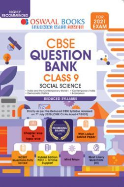 Oswaal CBSE Question Bank For Class - IX Social Science Reduced Syllabus (For March 2021 Exam)