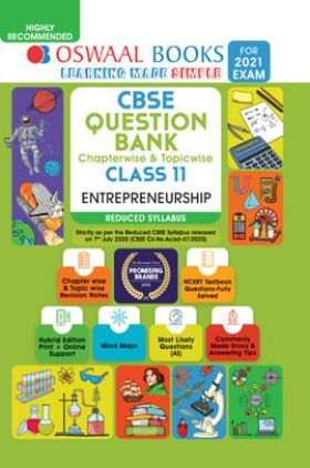 Oswaal CBSE Question Bank Chapterwise & Topicwise For Class - XI Entrepreneurship Reduced Syllabus (For March 2021 Exam)