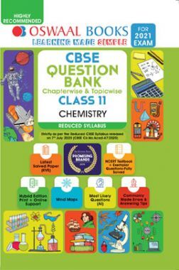 Oswaal CBSE Question Bank Chapterwise & Topicwise Class 11 Chemistry (Reduced Syllabus) (For 2021 Exam)