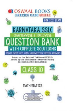 Oswaal Karnataka SSLC Chapterwise & Topicwise Question Bank Class 10 Mathematics Book (For 2021 Exam)