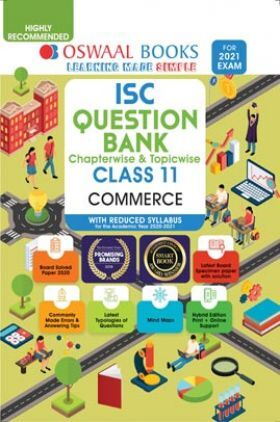 ISC Question Banks Class 11 Commerce Reduced Syllabus For 2021 Exam