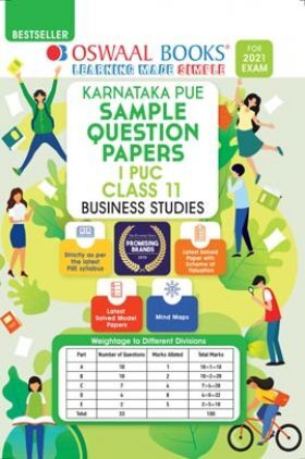 Oswaal Karnataka PUE Sample Question Papers I PUC Class 11 Business Studies Book (For 2021 Exam)