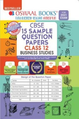 Oswaal CBSE Sample Question Papers For Class 12 Business Studies Book (Reduced Syllabus for 2021 Exam)