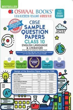 Oswaal CBSE Sample Question Paper For Class 10 English Language & Literature Book (Reduced Syllabus for 2021 Exam)
