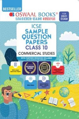 Oswaal ICSE Sample Question Papers For Class 10 Commercial Studies Book (Reduced Syllabus for 2021 Exam)