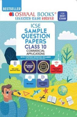 Oswaal ICSE Sample Question Papers For Class 10 Commercial Applications Book (Reduced Syllabus for 2021 Exam)