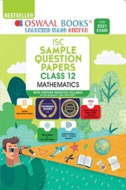 Oswaal ISC Sample Question Papers Class 12 Mathematics Book (For 2021 Exam)