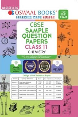 Oswaal CBSE Sample Question Paper Class 11 Chemistry Book (Reduced Syllabus for 2021 Exam)