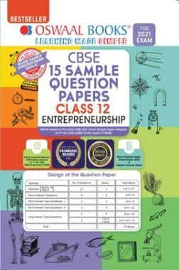 Oswaal CBSE Sample Question Papers Class 12 Entrepreneurship Book (Reduced Syllabus for 2021 Exam)