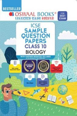 Oswaal ICSE Sample Question Papers Class 10 Biology Book (Reduced Syllabus for 2021 Exam)