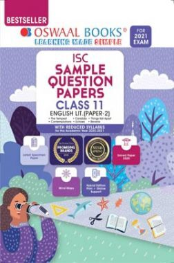 Oswaal ISC Sample Question Paper Class 11 English Literature Book Paper 2 (For 2021 Exam)