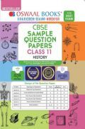 Oswaal CBSE Sample Question Paper Class 11 History Book (For 2021 Exam)