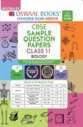 Oswaal CBSE Sample Question Paper Class 11 Biology Book (For 2021 Exam)