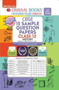 Oswaal CBSE Sample Question Papers Class 12 History Book (Reduced Syllabus for 2021 Exam)
