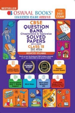 Oswaal CBSE Question Bank Chapterwise & Topicwise Solved Papers For Class 12 Hindi Core (Reduced Syllabus) (For 2021 Exam)