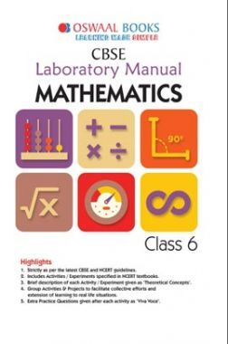 Oswaal CBSE Laboratory Manual Class 6 Mathematics Book (For 2021 Exam)