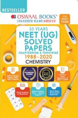 Oswaal NEET (UG) Solved Papers Chapterwise & Topicwise Chemistry Book (For 2021 Exam)