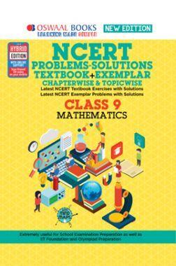 Oswaal NCERT (Solutions Textbook + Exemplar) For Class 9  Mathematics  (For 2022 Exam)